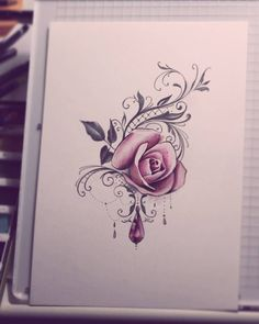 """310 Likes, 9 Comments - Sanni Voutilainen (@sanni_ink) on Instagram: """"I never get bored with roses. Shoulder piece. #lacetattoo #rosetattoo #drawing #watercolorpainting…"""""""