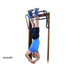 Gravity Boot Rack Chin Up Bar Inversion Therapy Workout Exercise Hang Free Video #TeeterHangUps #gravitybootrack