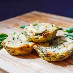 Spinach and sun dried tomato crustless vegan quiches