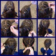 Ponytail French braid