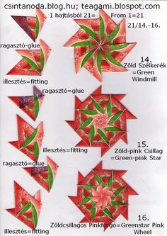 Teagami: július 2013 Origami Quilt, Origami Art, Christmas Words, Diy Christmas Gifts, Paper Folding Crafts, Paper Crafts, Diy And Crafts, Arts And Crafts, Tea Bag Art