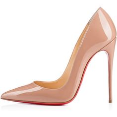 Pre-owned Christian Louboutin Heels ($900) ❤ liked on Polyvore featuring shoes, pumps, heels, apparel & accessories, dress shoes, nude, nude dress shoes, heels & pumps, pre owned shoes and nude shoes