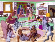 Laurie Simmons. The Instant Decorator (Pink and Green Bedroom/Slumber Party/Really Crowded), 2004.