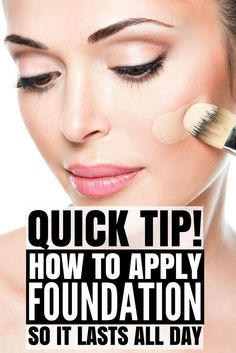 If you've ever wondered how to apply foundation and concealer so it LASTS ALL DAY, we've got you covered. Whether you apply your foundation with a brush, with a sponge, or with your fingers, prefer liquid makeup or powder, this tutorial will teach you how http://beauty-secrets.us/