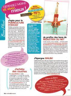 """Club des P'tits Loups à la une des astuces du magazine """"Modes & Travaux"""" pour dépenser moins et vivre mieux !"""