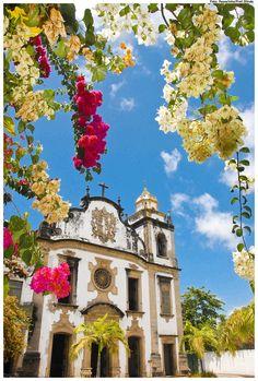 Mosteiro de Sao Bento em Olinda, estado de Pernambuco, Brasil.  Fotografia: Passarinho /  Prefeitura de Olinda no Flickr.