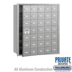 Salsbury Industries Plus Horizontal Mailbox, 30 A Doors 29 Usable, Front Loading, USPS Access, Aluminum Wall Mount Mailbox, Mounted Mailbox, Commercial Mailboxes, Post Box Wall Mounted, Security Mailbox, Continuous Hinges, Mail Center, Gibraltar Mailboxes, Architectural Mailboxes