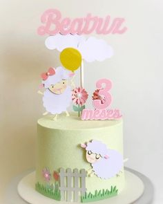 Farm Birthday, Birthday Parties, Happy Birthday, Bolo Fack, Sheet Cake Designs, Girl Cakes, Buttercream Cake, Baby Party, Cake Cookies