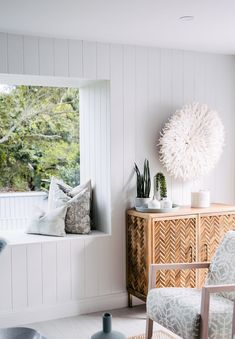 Great idea to use James Hardie Axon cladding for the interior walls Lounge Room, Coastal Living Rooms, Home And Living, Decor, Interior Design, House Interior, Home, Interior, Home Decor