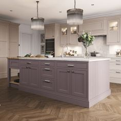 Kitchen Stori Belgravia Kitchen shown in Lavender Grey and Cashmere
