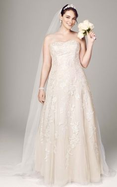 Shirleysdress is a David's Bridal knockoff shop.  Stunning Strapless Lace Silhouette Weddding Dress
