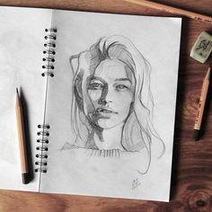 "Gefällt 2,628 Mal, 18 Kommentare - Miroslav Zgabaj (@miro_z_art) auf Instagram: ""Sketchbook Photo reference - @pleunieteunis #face #portrait #sketch #sketchbook #paper #pencils…"""