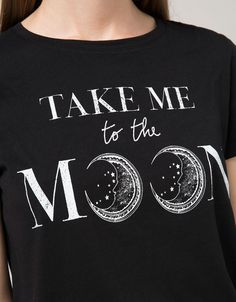 'T-shirt BSK estampada.Moon/Rul.' - T-shirts - Bershka Portugal