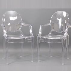 Louis Ghost Chair - Modern Acrylic Arm Chair $120.00