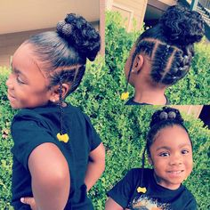 Jaydes natural hair pin-up with GaBBY Bows Adorable pin-up on toddler influencer Jayde with cornrows and buns and a yellow Daddys Girl GaBBY Bow! Natural hair styles for black girls / Girls hairstyles / Protective styles for girls # Lil Girl Hairstyles, Black Kids Hairstyles, Natural Hairstyles For Kids, Kids Braided Hairstyles, Weave Hairstyles, Curly Hair Styles, Natural Hair Styles, Hair Afro, 80s Hair