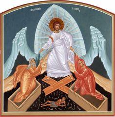 La resurrección Religious Icons, Religious Art, Roman Church, Christ Is Risen, Byzantine Icons, Orthodox Icons, Sacred Art, Christian Art, Joseph