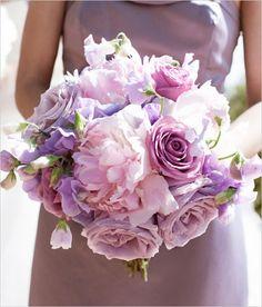 Lilac and blush wedding