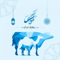 Creative negative space cow,camel and goat made by colorful abstract origami polygonal low- Eid Photos, Eid Mubarak Stickers, Eid Al Adha Greetings, Mubarak Images, Eid Ul Adha Images, Eid Adha Mubarak, Happy Eid Al Adha, Photo Wall Decor, Eid Special