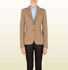 Gucci Beige Cotton Riding Blazer From Equestrian Collection on shopstyle.com