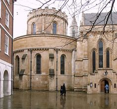 Temple Church London built in 12thC by the Knights Templar