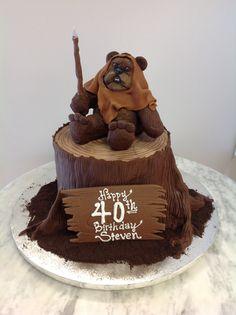 Cake Decorating Baby Ewok