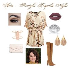 """""""Aria - Straight Tequila Night"""" by torib795 ❤ liked on Polyvore featuring Lipsy, Stuart Weitzman, Lime Crime, Kobelli, Alexis Bittar, Kendra Scott and GUESS"""