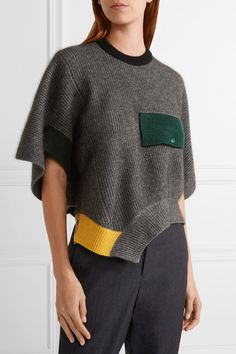 Toga   Ribbed wool poncho   NET-A-PORTER.COM