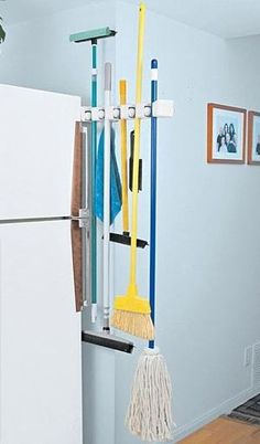 5 Section Slide Tool Rack Broom Storagehidden