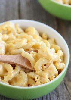 Healthier Mac and Cheese made with Greek yogurt.