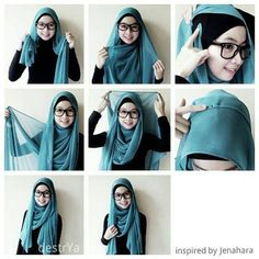 I have collected hijab styles step by step tutorial. It consists of steps required to wear beautiful hijab styles. These steps for hijab styles are easy. Square Hijab Tutorial, Simple Hijab Tutorial, Hijab Style Tutorial, Hijab Outfit, Hijab Dress, Kebaya Hijab, Islamic Fashion, Muslim Fashion, Hijab Fashion