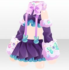 Pop Easter Party Suspender Skirt Style ver.A purple Fur Clothing, Suspender Skirt, Halloween Carnival, Cocoppa Play, Star Girl, Anime Hair, Drawing Clothes, Easter Party, Character Design References