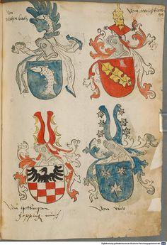 Tirol, Anton: Wappenbuch Süddeutschland, Ende 15. Jh. - 1540 Cod.icon. 310  Folio 85r