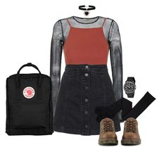 """""""Mesh Layers"""" by thxda on Polyvore featuring Faith Connexion, Topshop, Fjällräven, Dr. Martens, Victorinox Swiss Army, Rock 'N Rose, women's clothing, women's fashion, women and female"""