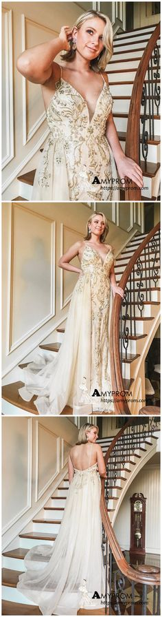 010a4d7b3f Chic Spaghetti Straps Lace Beaded Long Prom Dress Beautiful Prom Dress  Elegant Evening Formal Gowns AMY3031