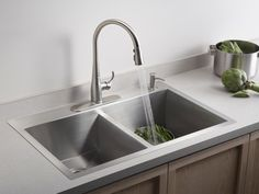 HGTVRemodels breaks down the pros and cons of kitchen sink styles and materials with pictures of the latest trends and styles.