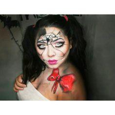 Broken Doll Makeup by Mua.Sasua 💕 Halloween Inspo