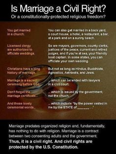 No reason to have religion be a part of your marriage (or life on general, but that's another post).