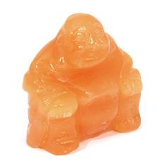 Orange Calcite Carved Sitting Buddha Statue – Orange calcite is said to be emotionally uplifting and physically energizing and can be used to shift stagnant energy. #healingcrystal #calcite #pisces