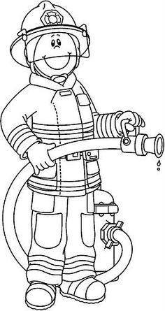 Firefighter black and white pwhu images on firefighter clipart firemen - WikiClipArt Community Helpers Worksheets, Community Helpers Preschool, Preschool Education, Preschool Activities, Fireman Crafts, Firefighter Crafts, Community Workers, School Community, Coloring Sheets
