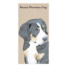 #Bernese Mountain Dog Puppy Card - #bernese #mountain #dog #puppy #dog #dogs #pet #pets #cute #bernesemountaindog