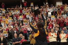 Tamika Catchings lifts the MVP Trophy prior to game one of the WNBA Eastern Conference Finals at Conseco Fieldhouse on September 22, 2011 in Indianapolis, Indiana.