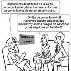 Un poquito de humor en las relaciones de pareja con la #comunicación 2.0