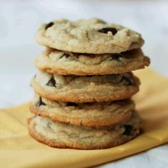 Chewy chocolate chip cookies with NO EGGS! Super easy and delicious.