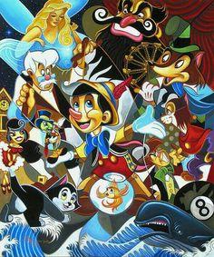 Pinóquio e seus personagens