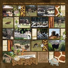 animal kingdom scrapbook page | Kilimanjaro Safaris - Page 3 - MouseScrappers.com .... a great way to ...