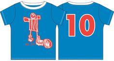 Messi VM T-shirt. En helt fantastisk T-shirt, der kun kan få det store smilet frem. Messi er tegnet af: Jonathan på 6 år