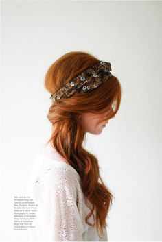 Flower Crown Society Head wrap tutorial Via Irrelephant-blog.com