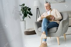 drawings easy pensive armchair glasses senior shareasale holding sitting while