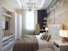 "Дизайн интерьера трехкомнатной квартиры в ЖК ""Вива"" (Viva)"