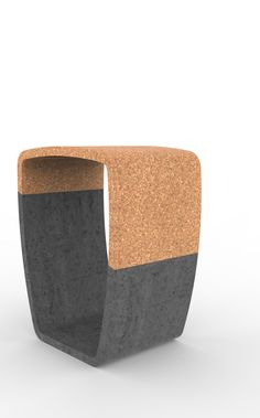 Concrete and cork stool